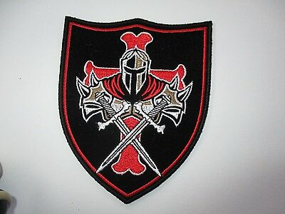 Knight and Swords BACK Patch  Sew/iron on rider biker motorcycle Men's shed Vest