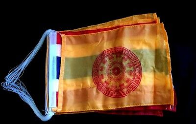 Thai Buddhist Yellow Orange Chakra Flags -Thailand Banner Bunting Decoration
