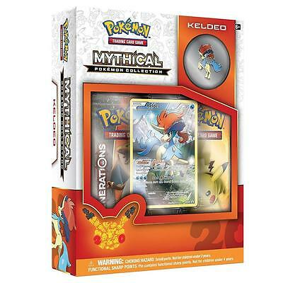 NEW TCG Mythical Pokemon Collection Keldeo Card Game Pin Trading Go 6SNZzs1