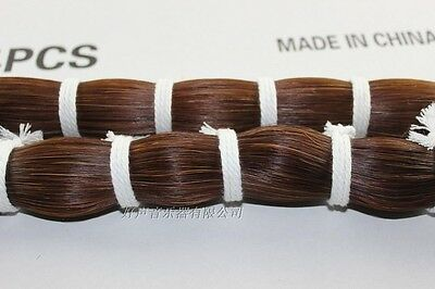 1000g cello double bass Mongolia natural brown bow hair horse tail 80-83 cm