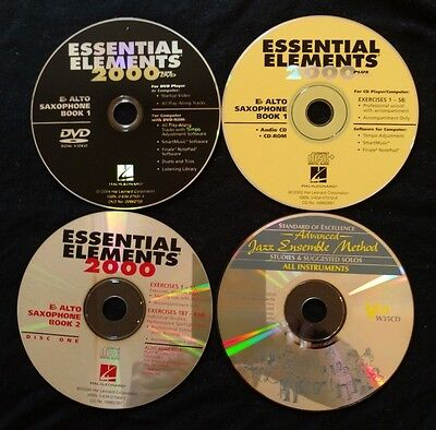 Essential Elements 2000 - Eb Alto Saxaphone - DVD, CD-ROM & CD no books