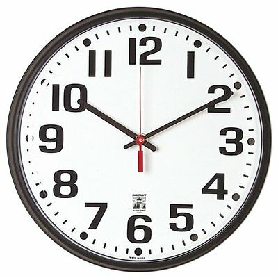 SKILCRAFT 6645-01-557-3148 Plastic SelfSet Wall Clock with W