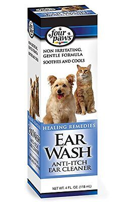 Ear Wash Anti Itch Cleaner For Pets 4 Oz