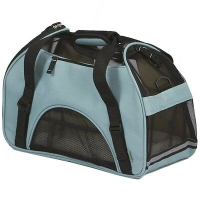 Bergan 88042 Small Comfort Carrier Soft Sided Pet Carrier, Mineral Blue