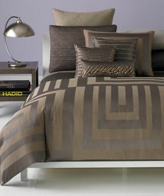 New Hotel Collection Columns California  KING Bedskirt Solid Brown   $120