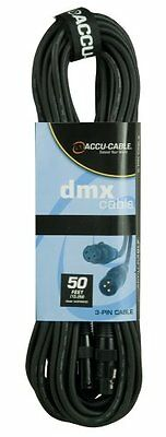 Accu Cable Ac3Pdmx50 Fifty Foot 3 Pin True Dmx Cable