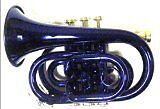 Blue Pocket Trumpet