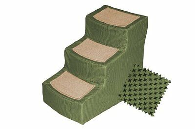 Pet Gear Designer 3-Step with Removable Cover, Pet Stairs, Sage