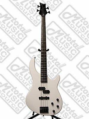 Dean Edge Bass Guitar, 10 with Active PJ Pickups, Classic White