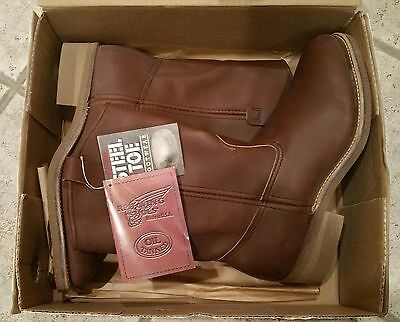 1995 Red Wing Pecos Steel Toe Work Boots IN THE BOX UNUSED 9-D Original Owner
