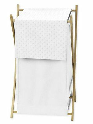 Baby/Kids Clothes Laundry Hamper for Solid White Minky Dot Bedding by Sweet