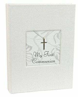 Stephan Baby Inspirational Keepsake Mini Photo Album with Silver Cross, My