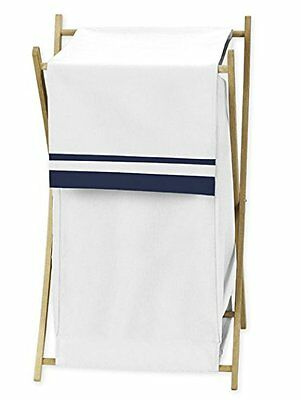 Baby/Kids Clothes Laundry Hamper for White and Navy Hotel Bedding by Sweet