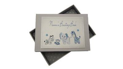 White Cotton Cards Nanna's Boasting Book Tiny Photo Album Toys Range (Blue)