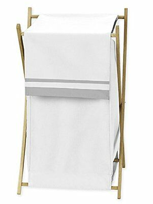 Baby/Kids Clothes Laundry Hamper for White and Gray Hotel Bedding by Sweet