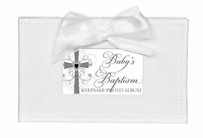 The Grandparent Gift Co. Growing in Faith Keepsake Photo Album, Baby Baptis