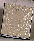 Engraveable nickel-plated silver album for baby holds 100 4x6 photos - 4x6