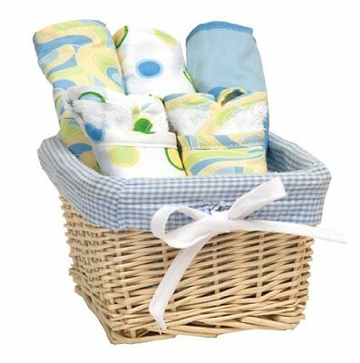 Trend Lab Dr. Seuss Bib and Burp Cloth Basket Gift Set, Blue Oh, The Places