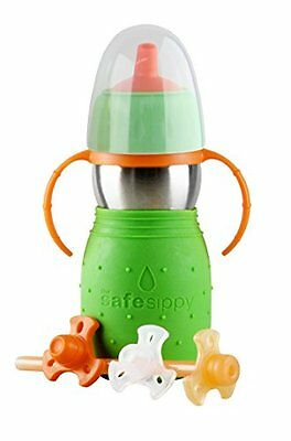 The Safe Sippy 2 2-in-1 Sippy to Straw Bottle, Green