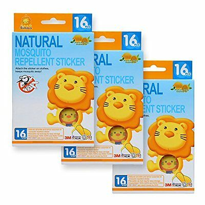 Simba Natural Mosquito Repellent Sticker (16pcs) with Citronella and Lemon