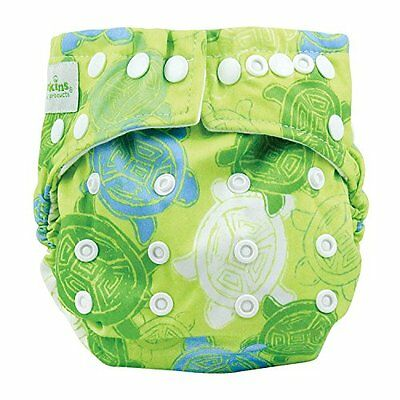 Bumkins Snap In One Cloth Diaper, Green Turtle