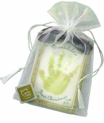 The Grandparent Gift Co. Holiday First Christmas Handprint Keepsake, Grandc