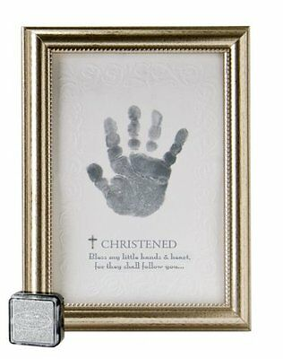 The Grandparent Gift Co. Growing in Faith Handprint Frame, Baby Christening