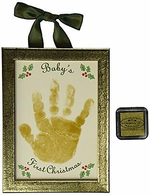 The Grandparent Gift Co. Holiday First Christmas Handprint Keepsake, Baby's