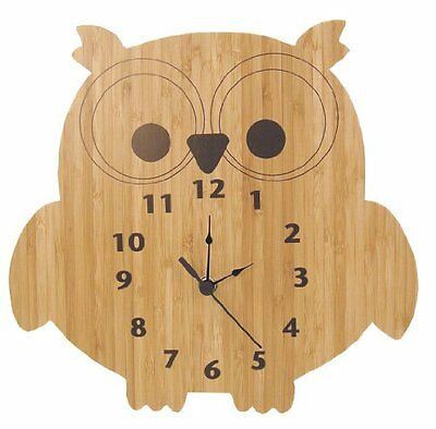 Trend Lab Bamboo Wall Clock, Owl