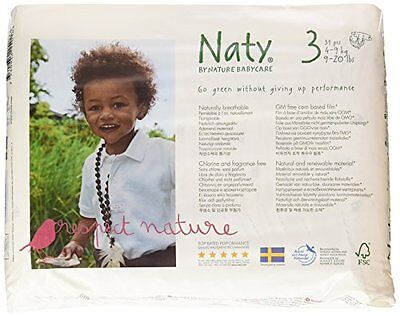 Naty Chlorine-Free ECO Diapers, Size 3 (9-20lbs) (Pack of 4)