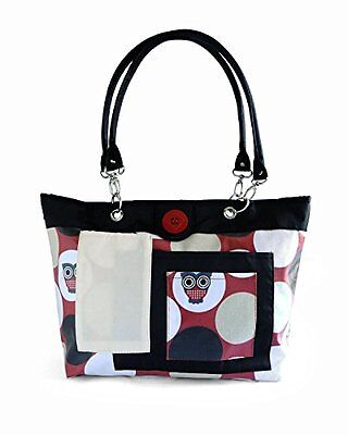 2 Red Hens Rooster Diaper Bag, Owl Dots