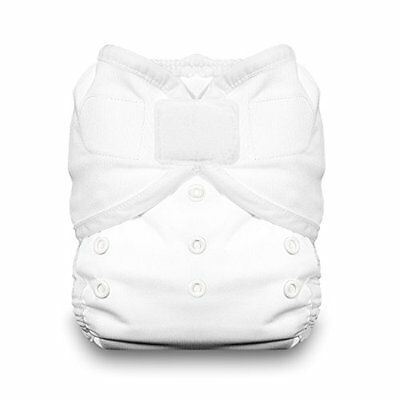 Thirsties Duo Wrap Diaper Cover with Hook and Loop, White, Size 2