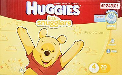 HUGGIES Little Snugglers Diapers Super Pack, (Size 4)