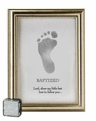 The Grandparent Gift Frame Wall Decor, Baptized Footprint