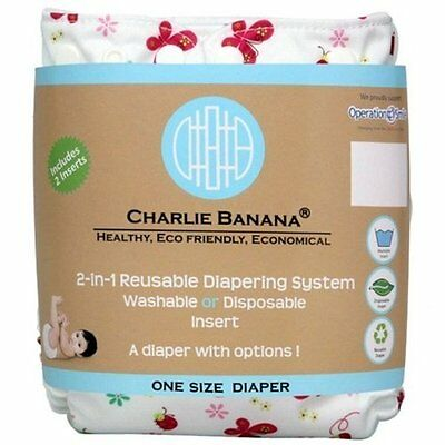 Charlie Banana 2-in-1 Reusable Diaper One Size-Butterfly