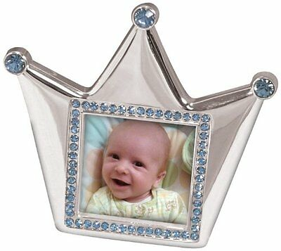 Stephan Baby Royalty Collection Keepsake Silver Plated Frame, Little Prince