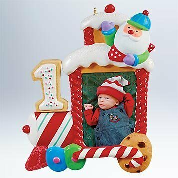 Hallmark Keepsake Ornament 2011 My First Christmas - Photo Holder - #QXG440