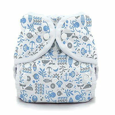 Thirsties Snap Duo Wrap, Ocean Life, Size Two (18-40 Lbs)