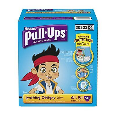 Pull-Ups Training Pants with Learning Designs for Boys, 4T-5T, 56 Count (Pa