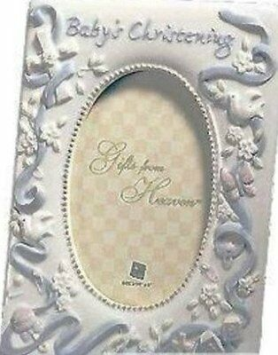 Special Blue Christening Frame By Russ Berrie 15868 4x6 Frame