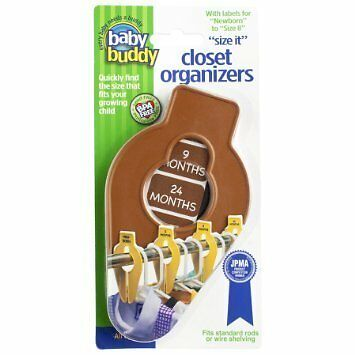 Baby Buddy Size-It Closet Organizers, Chocolate, 5 Count