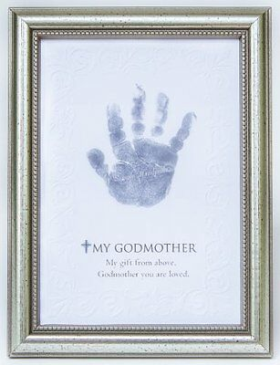 The Grandparent Gift Frame Wall Decor, Godmother Handprint