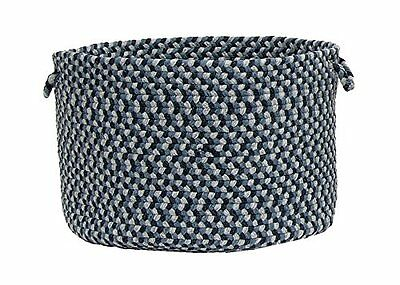 Colonial Mills Boston Common Utility Basket, 14 by 10-Inch, Capeside Blue
