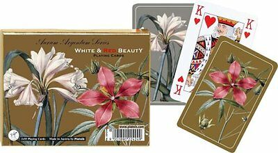 Piatnik Playing Cards - White & Red Beauty, double deck