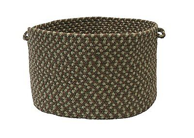 Colonial Mills Boston Common Utility Basket, 14 by 10-Inch, Moss Green