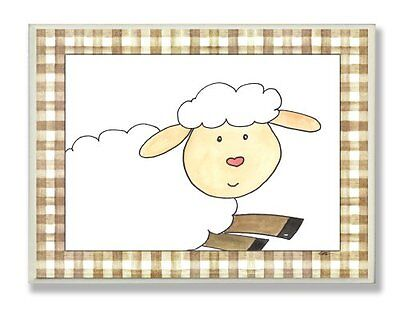 The Kids Room By Stupell Here'S Looking At You Sheep Wall Plaque, Designer