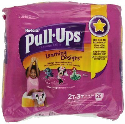 Huggies Pull-Ups Learning Designs Training Pants Jumbo Pack 2T-3T Girl 26ct