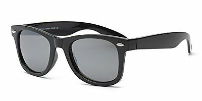 Real Kids Shades Frame/Black Temples Silver Mirror 10+ Lens, Black