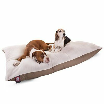 42x60  Khaki Rectangle Pet Dog Bed By Majestic Pet Products