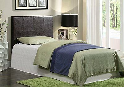 Furniture of America Malena  Leatherette Headboard, Twin, Wh